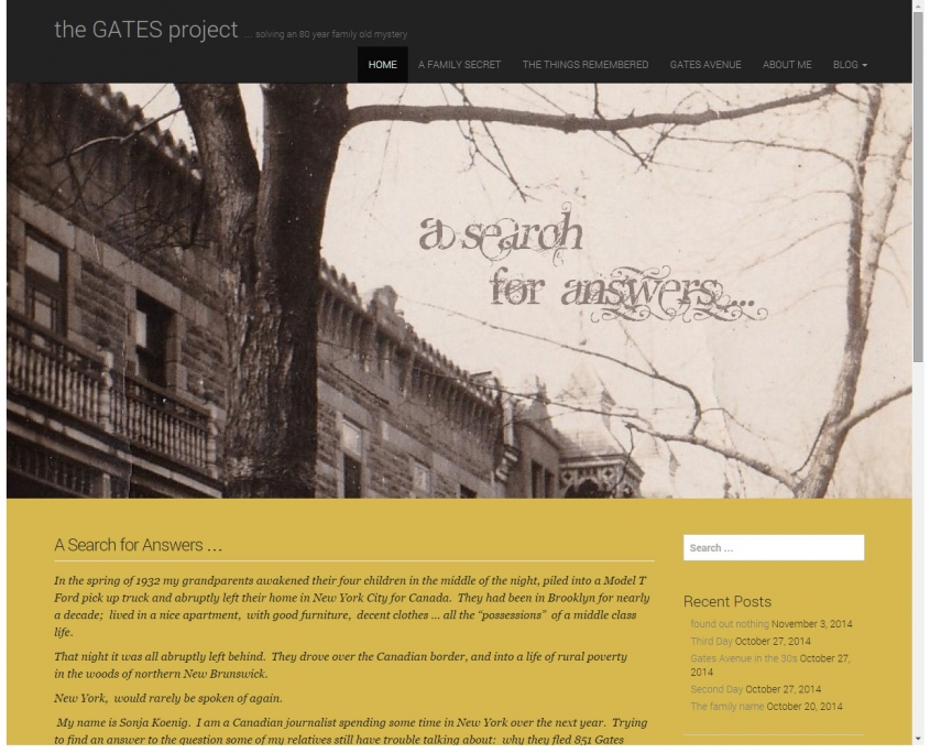 The Gates Project Blog