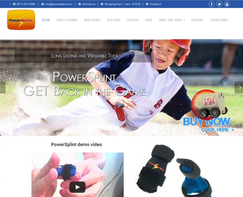 PowerSplint Wordpress eCommerce Store