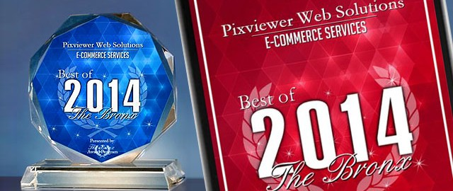 Pixviewer Web Solutions Receives 2014 Best of The Bronx Award 1
