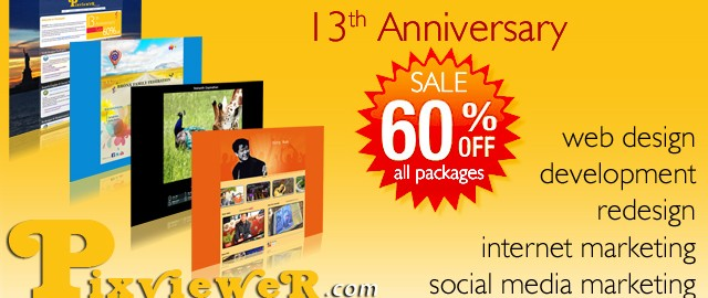 13th Anniversary Sale 1