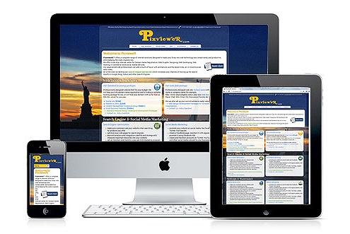 Responsive Web Design RWD Fluid Design for optimal viewing 2