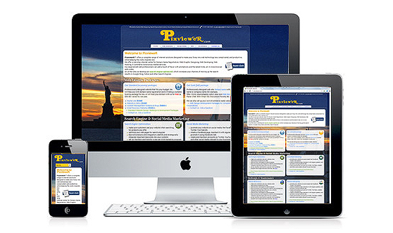 Responsive Web Design RWD Fluid Design for optimal viewing 1