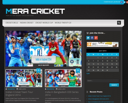 Mera Cricket blog site