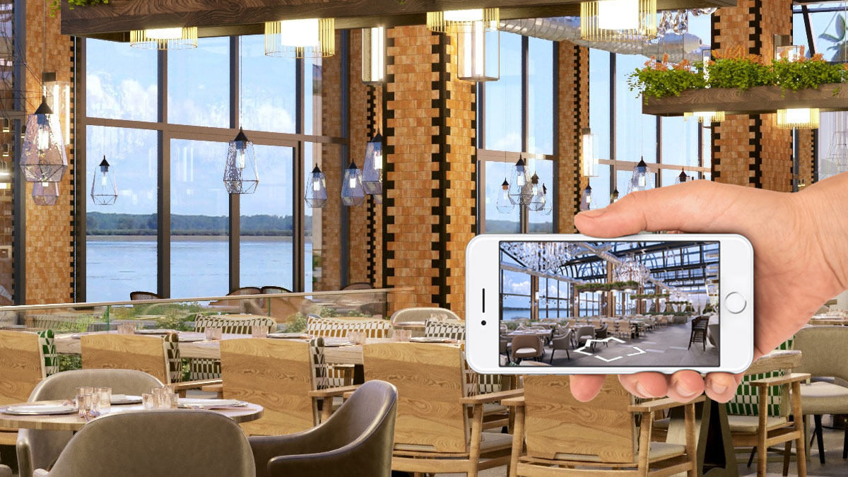 Restaurant Bar Hotel Airbnb 360 tour Google Street View Virtual Tour